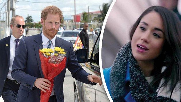Princ Harry a jeho láska Meghan Markle.