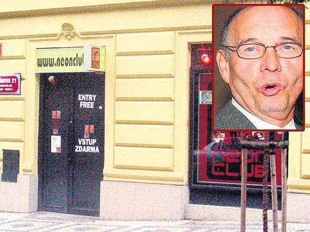 Nightclub v Balbínově ulici, kde je Ivan Vyskočil častým hostem.