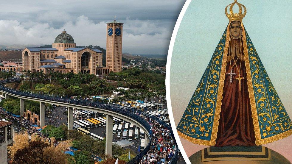 Nová bazilika stojí uprostřed rozlehlého komplexu, vněmž nechybí obří parkoviště pro autobusy nebo estakáda pro pěší poutníky.
