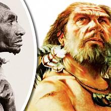 Azzo Bassou (vlevo) měl shodné rysy s neandrtálci.