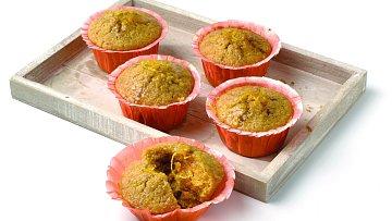 Mrkvové muffiny, zdravé mlsání.