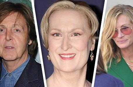 Julia Roberts, Paul McCartney, Meryl Streep, cover foto