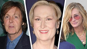 Julia Roberts, Paul McCartney, Meryl Streep, cover foto