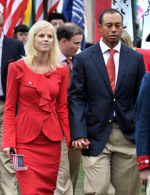 Elin Nordegren a Tiger Woods.