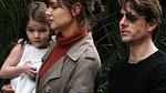 Katie Holmes s manželem Tomem Cruisem a dcerkou Suri