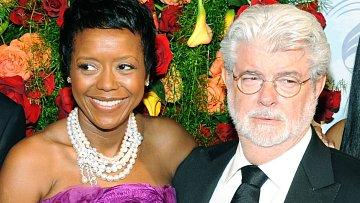 George Lucas s manželkou Mellody