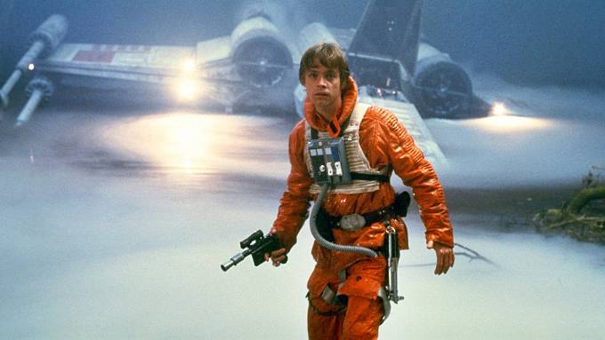 Mark jako Luke Skywalker ve filmu Impérium vrací úder.