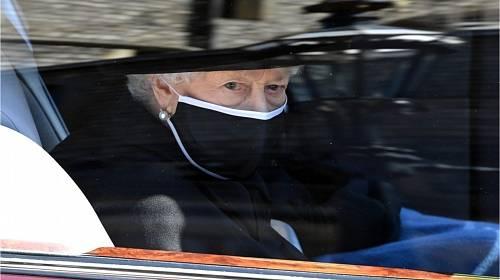 Královna Alžběta II. na pohřbu svého manžela