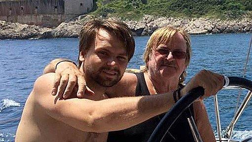 Karel Vágner a jeho syn Pepa na dovolené