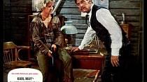 Vchlupaté čepici dělal neplechu vefilmu Vinnetou  – Rudý gentleman (1964).