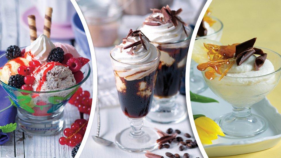 Lesní symfonie, ledová káva a dezert Piňa colada