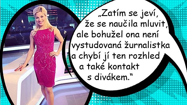 Moderátorka Eva Perkausová zasedla poprvé za pult ve Zprávách po boku Romana Šebrleho.