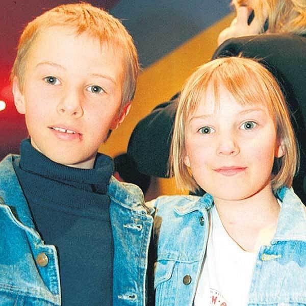 Dvojčata Adam a Karolína Evy Holubové
