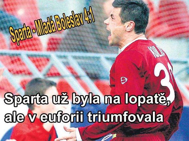Marek Kulič si radost z vítězství i dvou gólů náležitě užil.