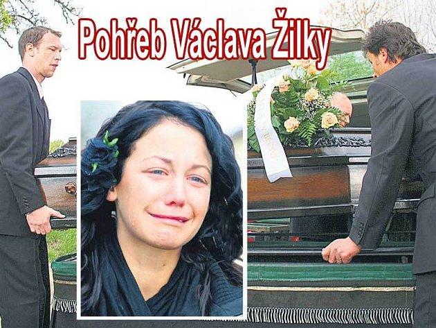 Václav Žilka se vydal na svou poslední cestu. Agáta Hanychová nedokázala ovládnout svůj smutek.