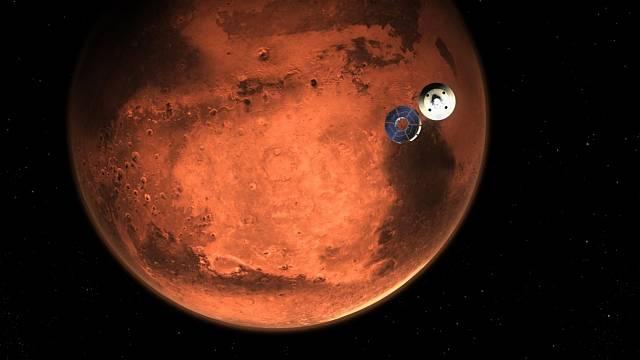 Vozítko Perseverance míří na Mars.