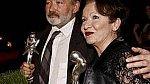 Hana Maciuchová a Rudolf Hrušínský, seriáloví partneři z Ulice, dostali v sobotu ocenění za nejoblíbenějšího muže a ženu Novy.