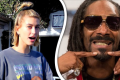 Hailey Bieber a Snoop Dogg