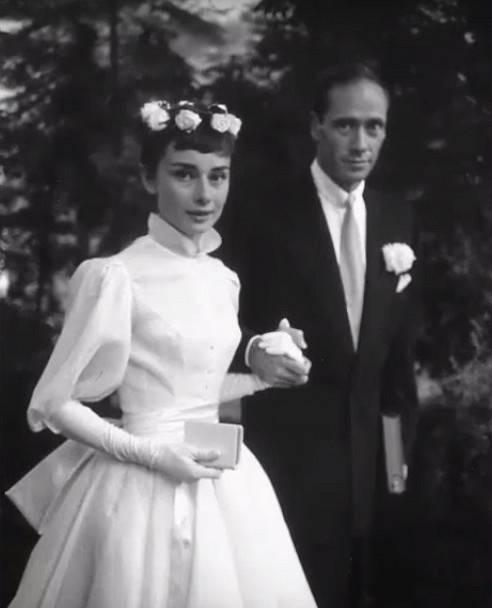 Audrey Hepburn s prvním mužem Melem Ferrerem v roce 1954.