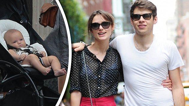 Keira Knightleyová s manželem Jamesem vyrazili s dcerou do New Yorku.