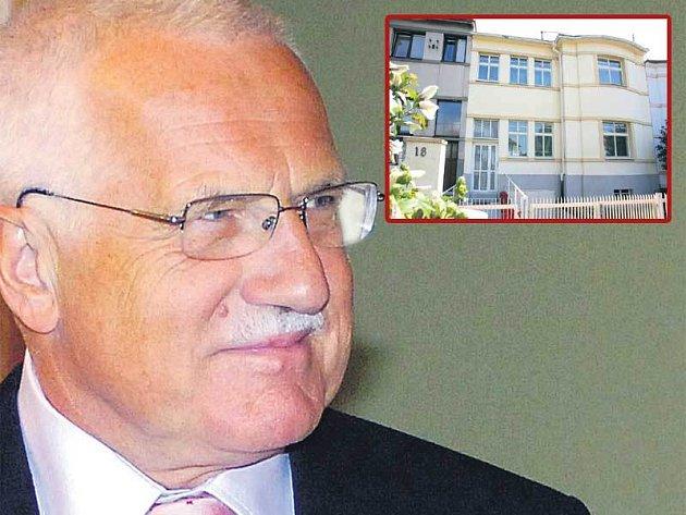 Václav Klaus pořídil novou vilku velice výhodně.