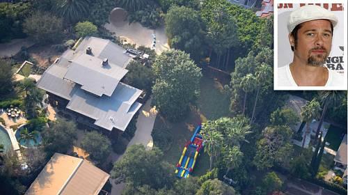 Brad Pitt a jeho dům v Los Feliz.