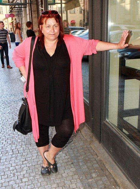 Vdobě, kdy trpěla obezitou.