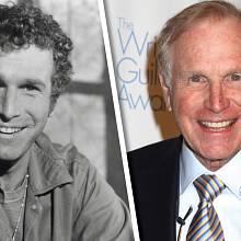 Wayne Rogers a jeho dvě tváře. Vlevo jako Trapper John, vpravo jako finanční analytik.