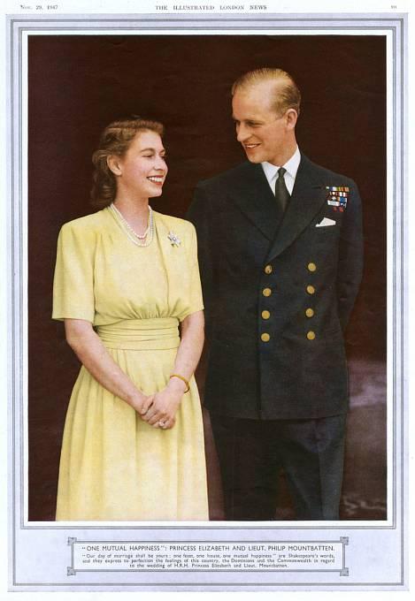 Královna Alžběta a Princ Philip.