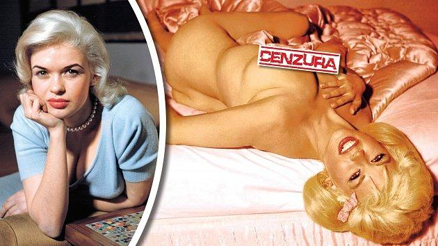 """Blondýna vrůžovém. Jayne patřila kzakladatelkám tohoto ženského """"druhu""""."""