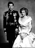 Charles s Dianou v době manželství.