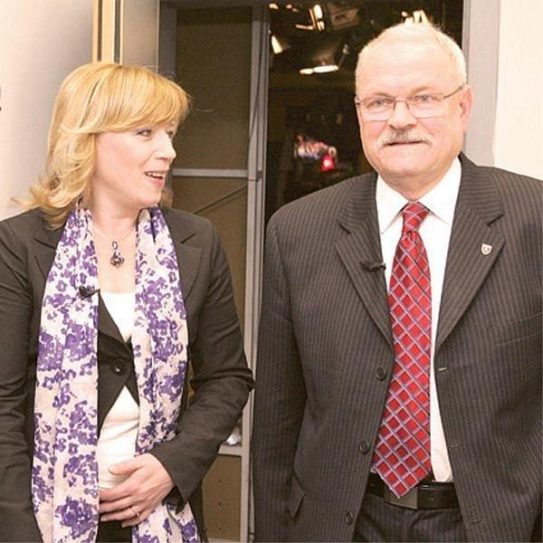 Iveta Radičová a Ivan Gašparovič