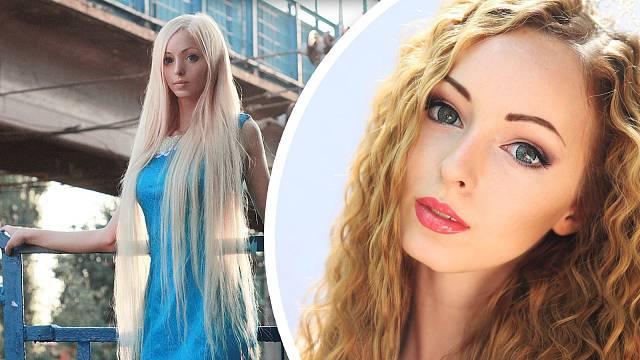 Alina Kovalevská se stylizuje do panenky Barbie.