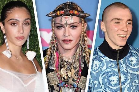 Madonna, Rocco Ritchie a Lola Leon.