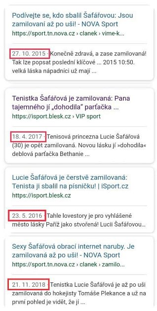 Lucie Šafářová milenci