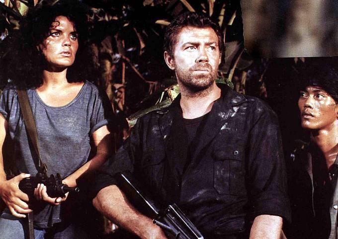Italský akční film Komando Leopard (1985).