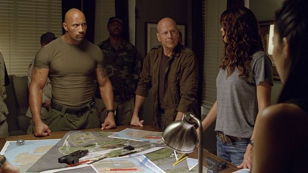 Dwayne Johnson a Bruce Willis