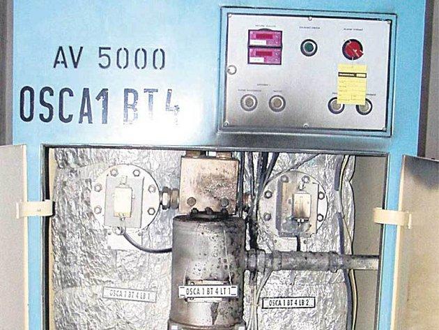 Ohořelá část elektroinstalace v Temelíně.