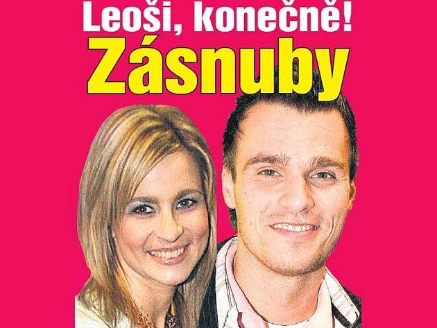 Leoš Mareš s přítelkyní Monikou Poslušnou