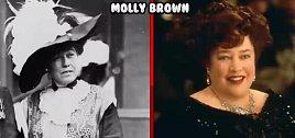 Cestující Molly Brownová a její televizní představitelka.