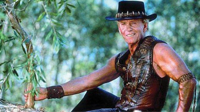 Paul Hogan ve své nejslavnější roli neohroženého Dundeeho.