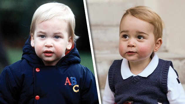 Který je který? William vlevo, syn George vpravo.