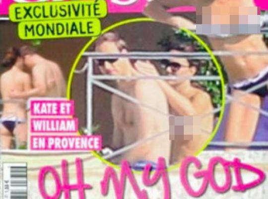 Kate Middleton nahá