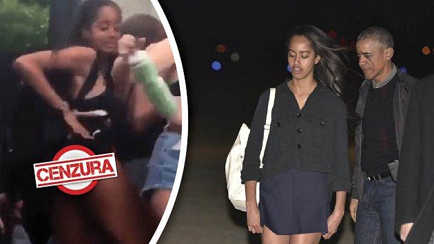 Obamova dcera Malia se umí dobře bavit.