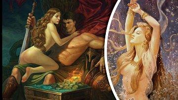 Afrodita byla krásná a také velmi náruživá.