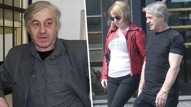 Ještě loni v květnu se Josef Rychtář chlubil vypracovanou postavou a potrpěl si na značkové oblečení (vpravo). Na fotce vlevo vypadá, jako by zestárl snad o deset let, přitom je z poloviny letošního roku.