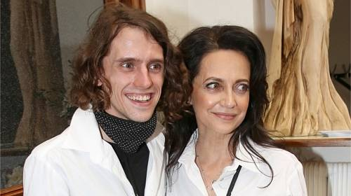 Lucie Bílá se synem Filipem