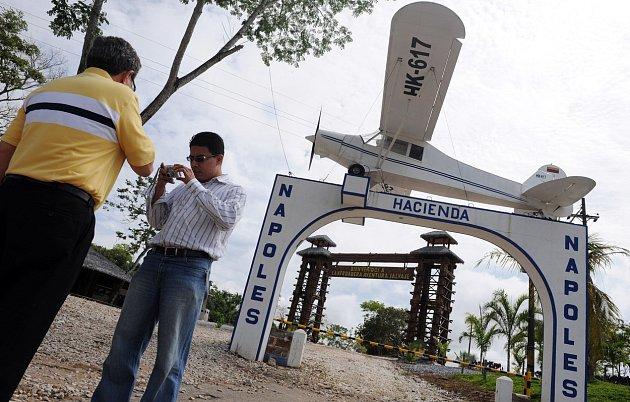 Vjezd do slavné vily Pabla Escobara.