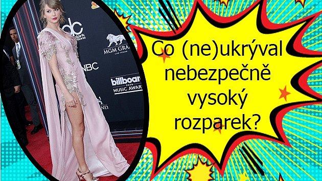 Na předávání Billboard Music Awards předvedla Taylor Swift proklatě nebezpečný rozparek.