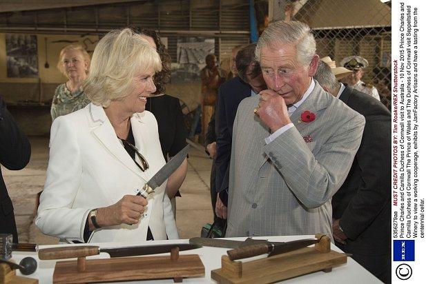 Charles si moc dobře uvědomuje, že manželku musí poslouchat.